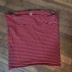 Torrid striped mini skirt